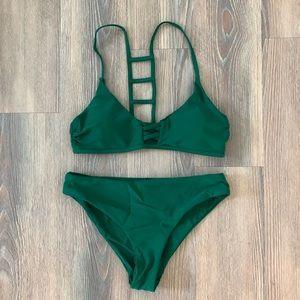 🆕 NWT Cupshe Fete Ready Green Bikini